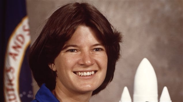 L'astronaute américaine Sally Ride en janvier 1983
