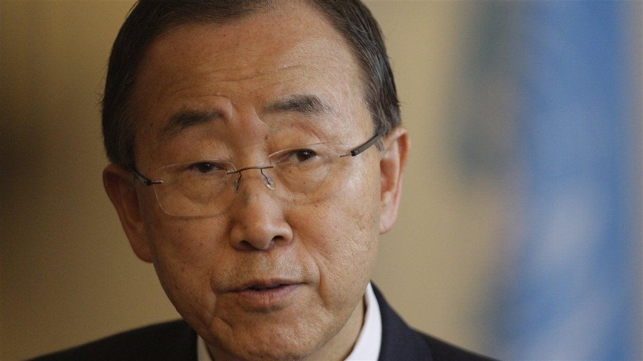 Le secrétaire général de l'ONU, Ban Ki-moon, en visite en Bosnie