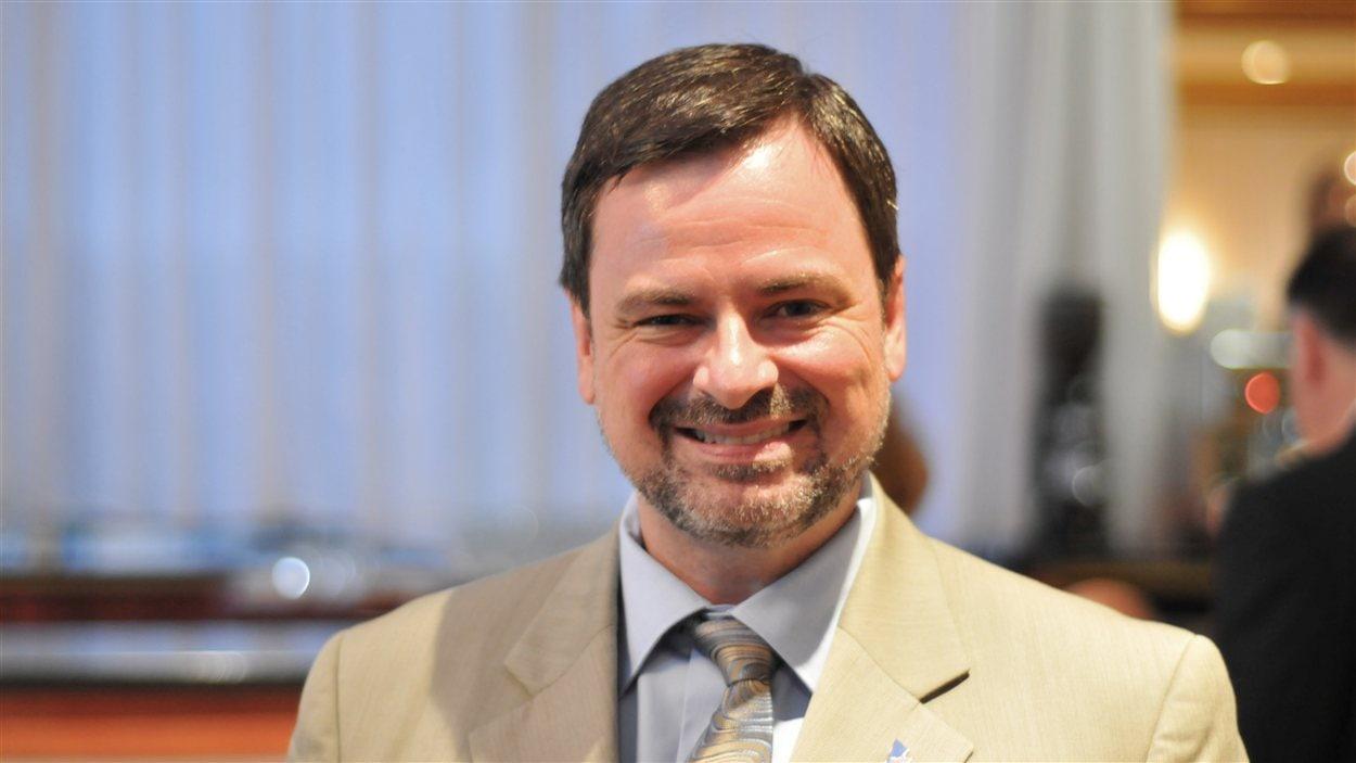 Le député de Laval-des-Rapides et ministre délégué aux Finances, Alain Paquet, Laval, 5 août 2012