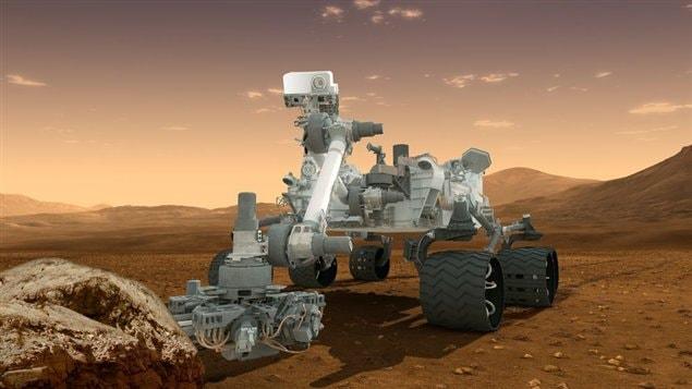 Le robot Curiosity a atterri sur Mars au début août 2012.