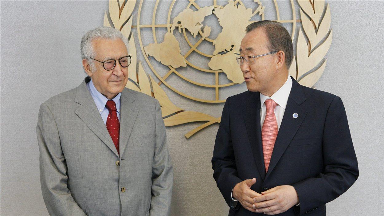 Lakhdar Brahimi et  Ban Ki-moon