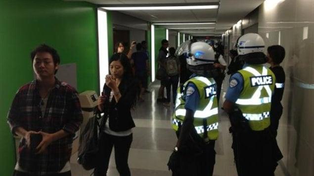 Des policiers à l'Université de Montréal
