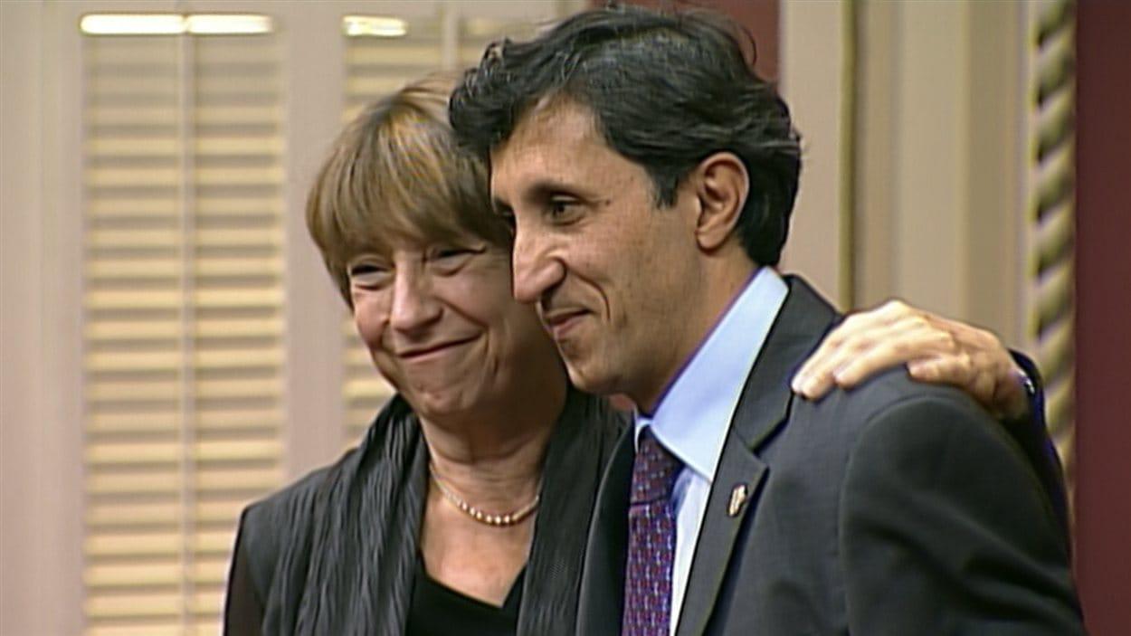 Françoise David et Amir Khadir assermentés