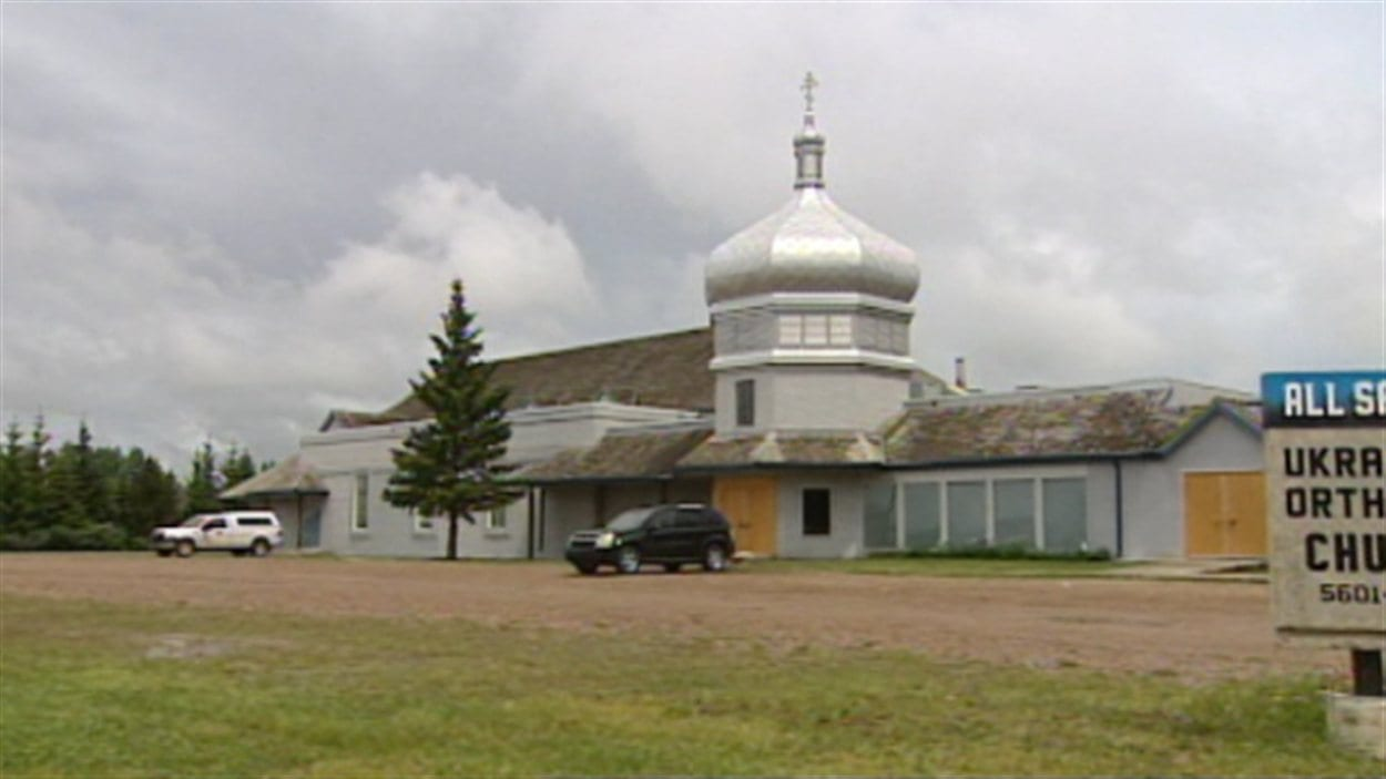 Vue de l'église orthodoxe ukrainienne de Saint-Paul dont s'occupait le prêtre John Lipinski