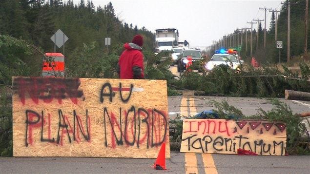 Barricade sur la route 138