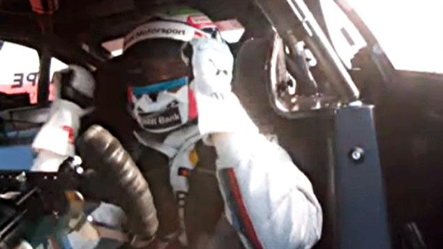 Bruno Spengler réagit dans son cockpit