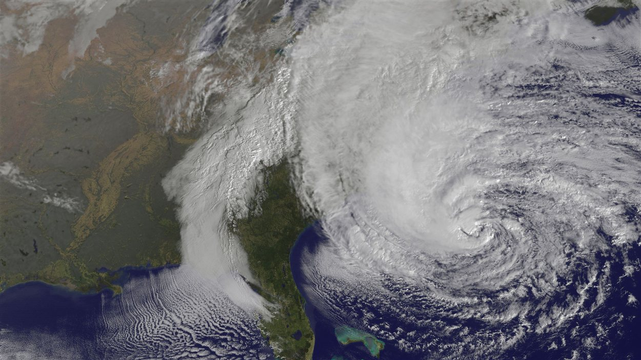 Image satellite de l'ouragan Sandy le 28 octobre 2012