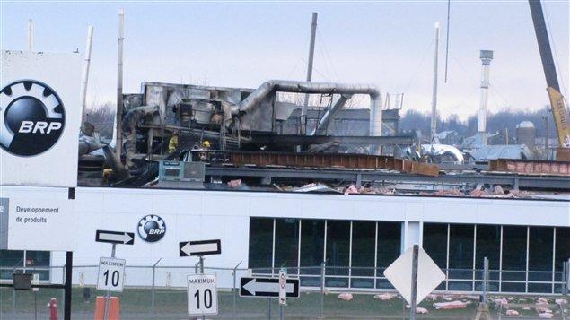 Explosion dans une usine de BRP à Valcourt
