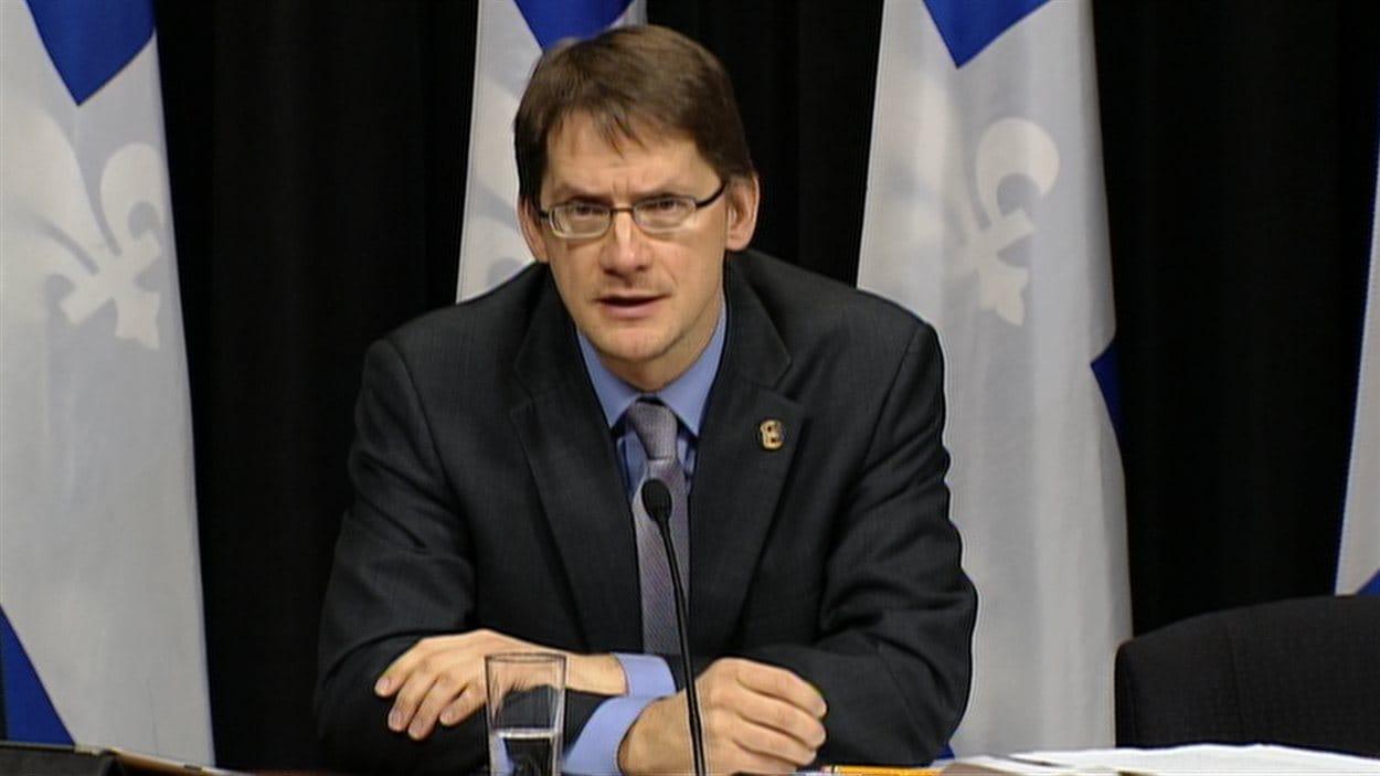 Le ministre Sylvain Gaudreault