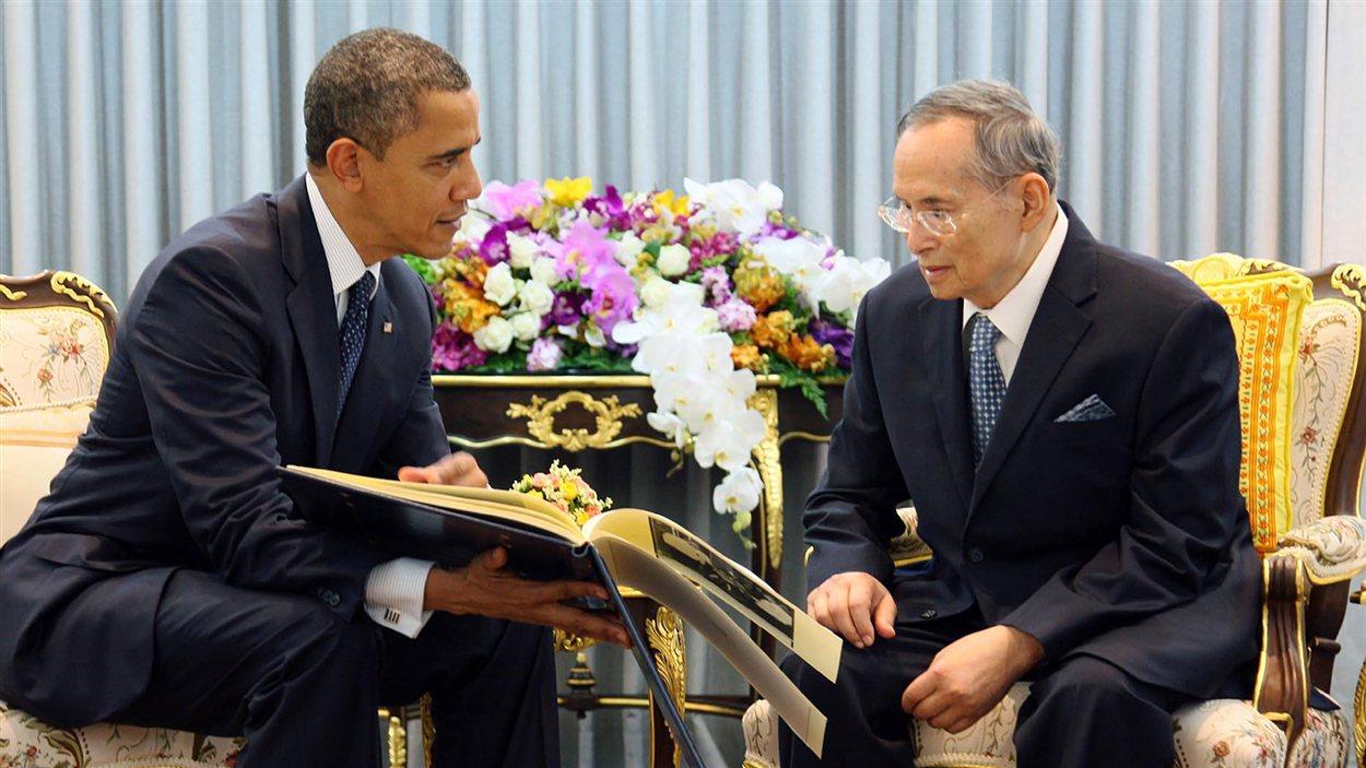 Le président Barack Obama et le roi de Thaïlande  Bhumibol Adulyadej