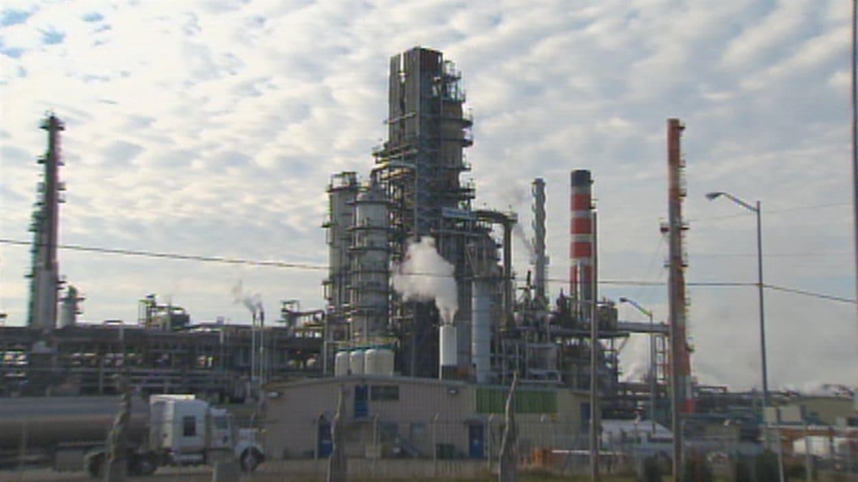 La raffinerie d'Ultramar à Lévis