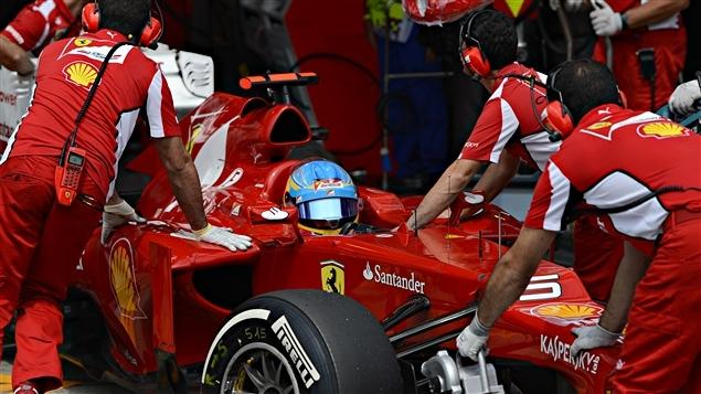 Fernando Alonso durant les qualifs au Brésil