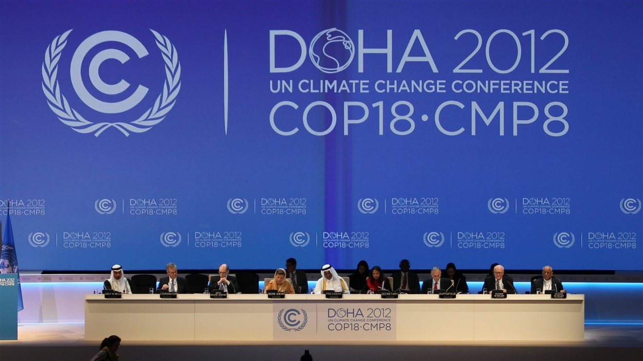 Cérémonie d'ouverture de la 18e Conférence de Doha, le 26 novembre.