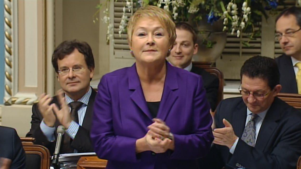 Pauline Marois à l'Assemblée nationale, le 7 décembre.