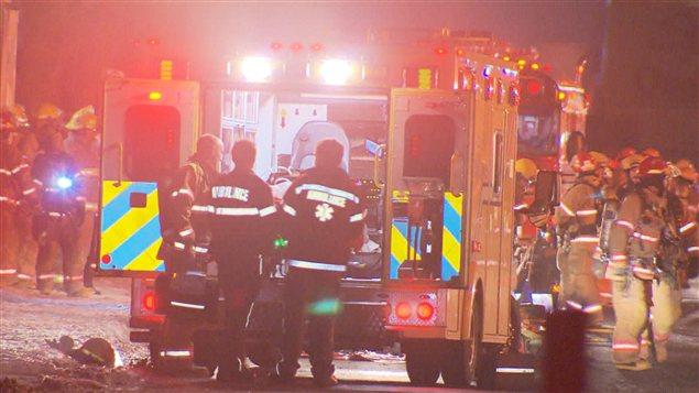 Deux pompiers ont été blessés dans l'incendie