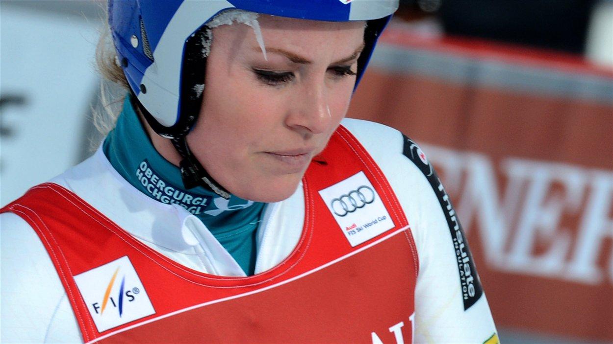 L'Américaine Lindsey Vonn à Val-d'Isère