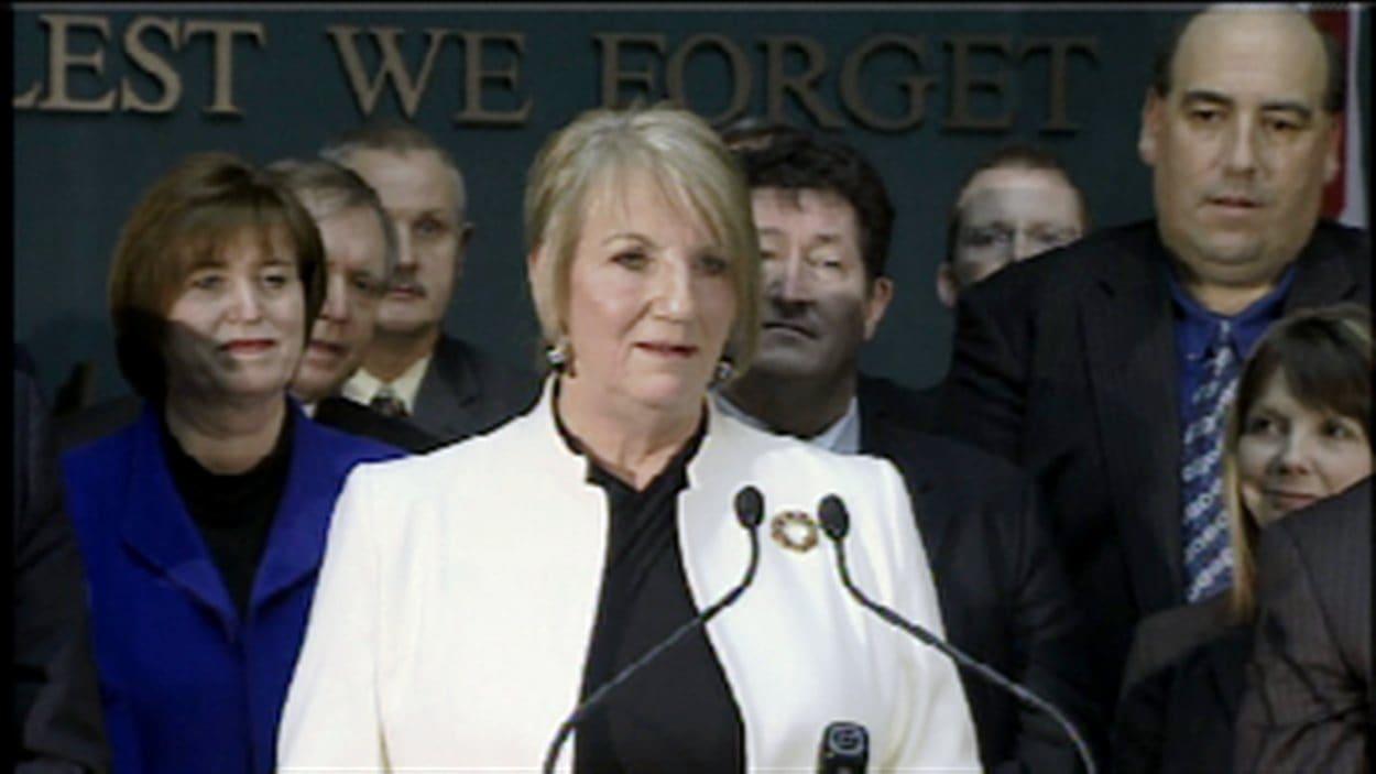 La première ministre Kathy Dunderdale