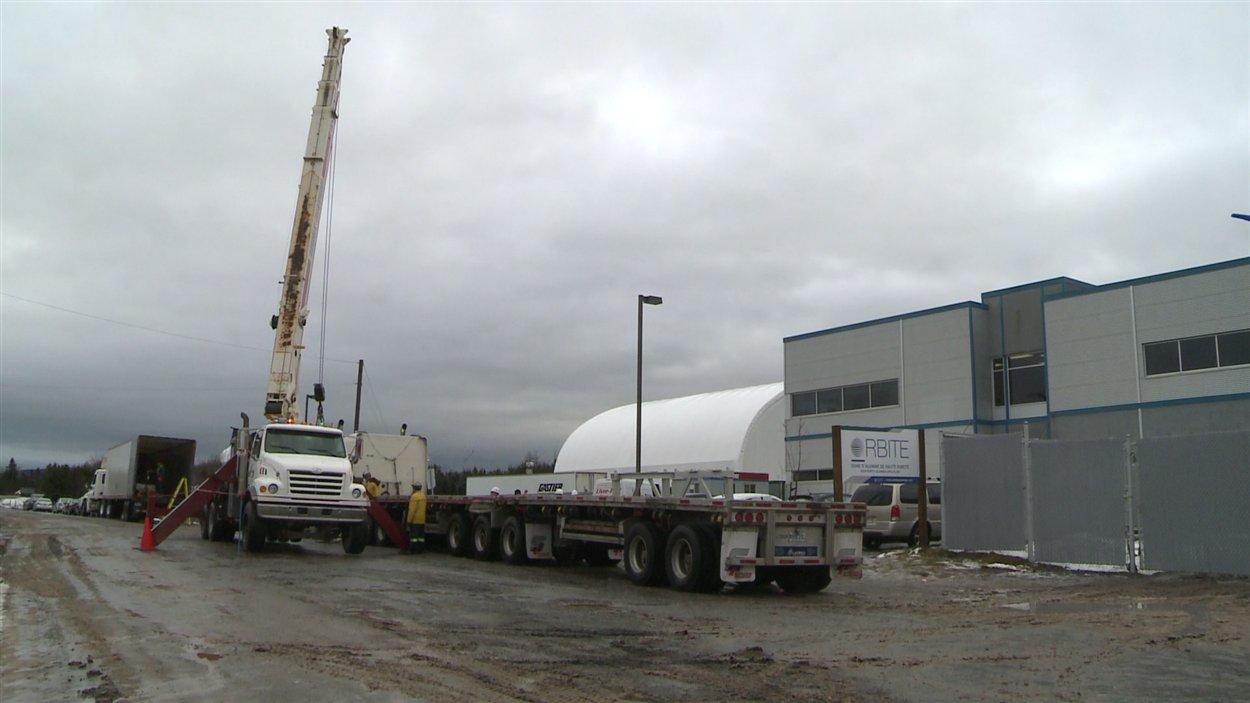 Travaux à l'usine Orbite de Cap-Chat en décembre 2012