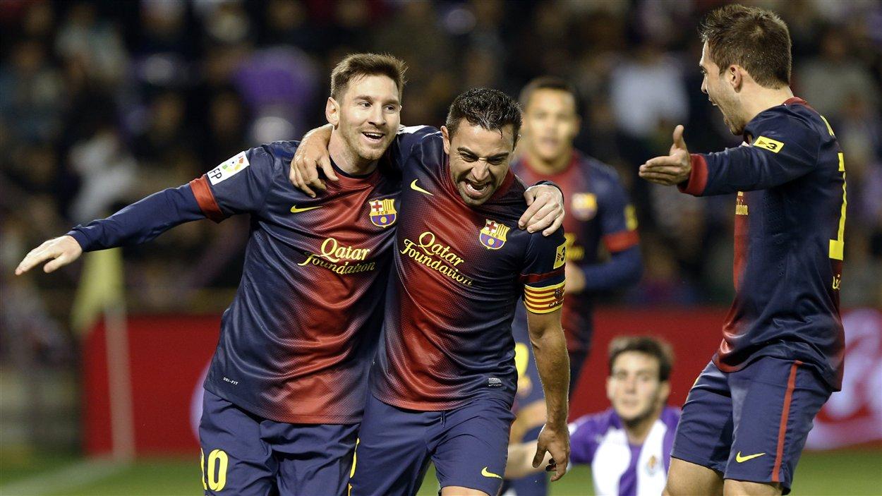 Lionel Messi, Xavi Hernandez, Jordi Alba.