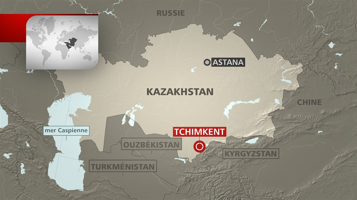 L'écrasement a eu lieu à une vingtaine de kilomètres de la ville de Shymkent, non loin de la frontière avec l'Ouzbékistan.