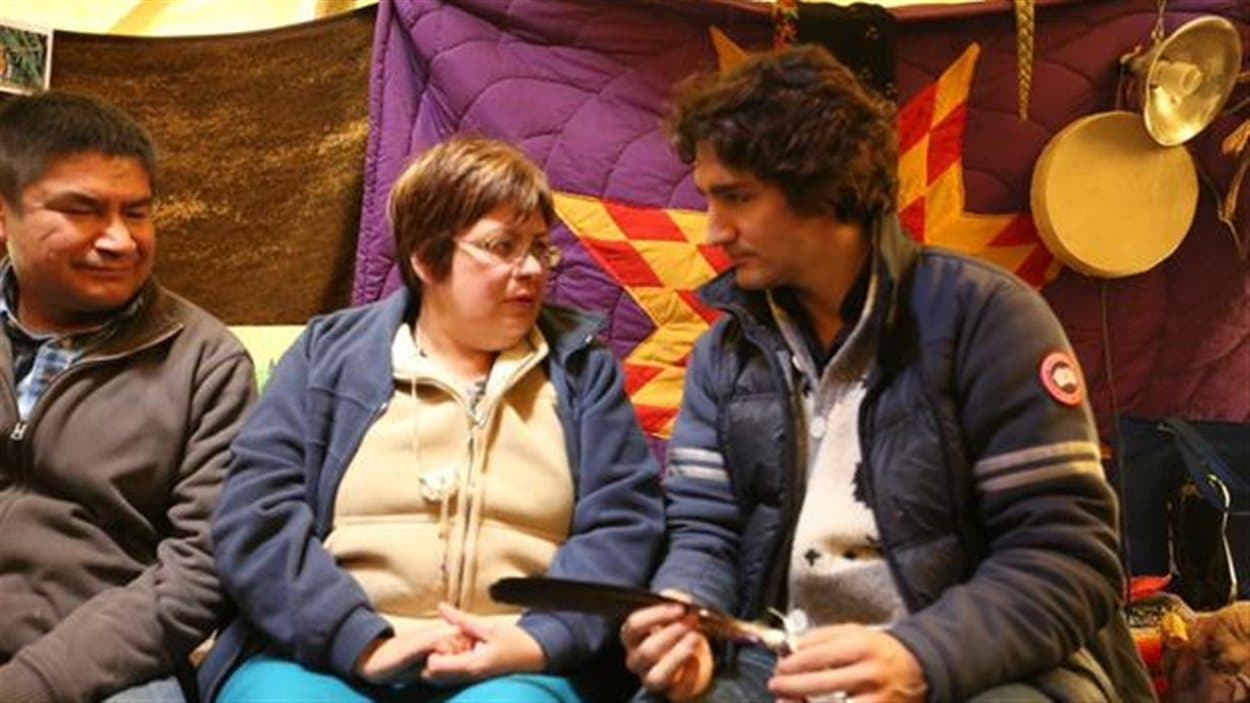 Justin Trudeau et Theresa Spence