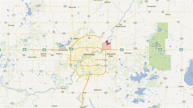 L'accident s'est déroulé dans la région de Clover Bar, à l'est d'Edmonton