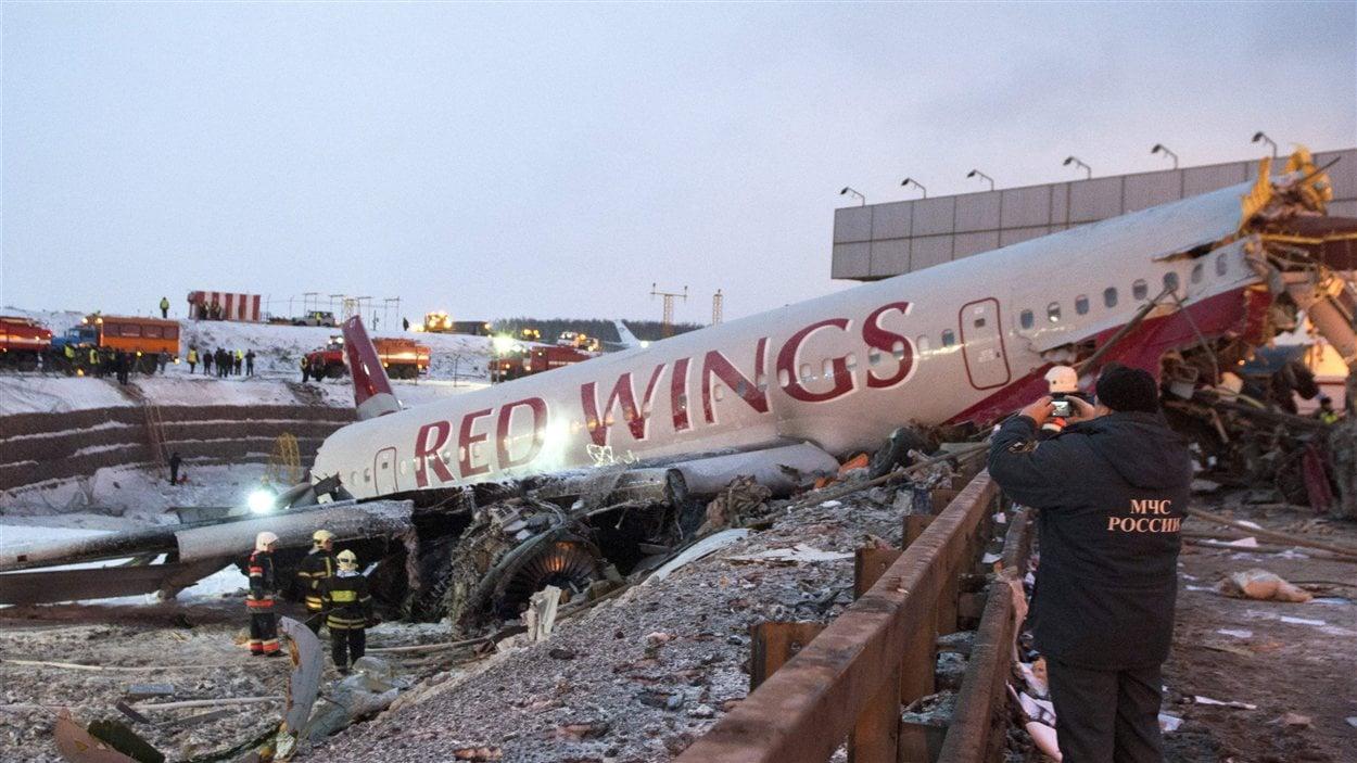 Accident d'avion à Moscou