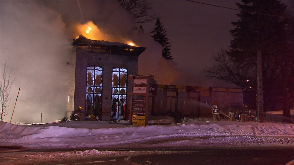 Incendie dans un restaurant de Laval