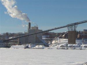 L'usine Laurentide de Produits forestiers Résolu à Shawinigan