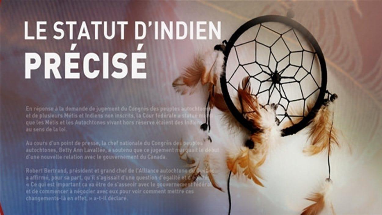 Statut des Métis et des Autochtones à l'extérieur des réserves