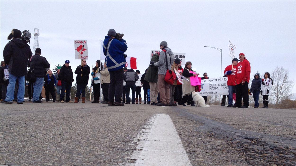 Manifestation Idle No More à Edmonton