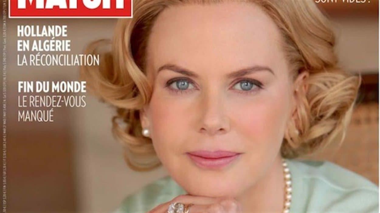 Nicole Kidman dans le rôle de Grace de Monaco sur la couverture du Paris Match