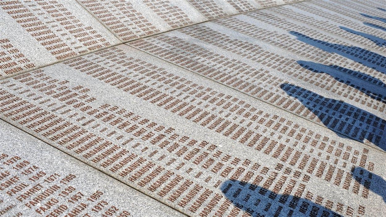 Le mémorial à la mémoire des victimes des massacres de Srebrenica.