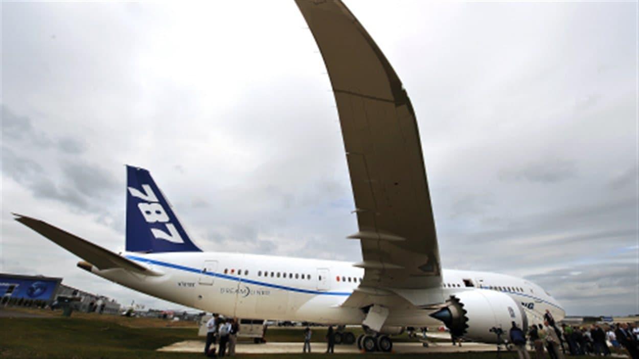 Un Boeing Dreamliner à Farnborough.