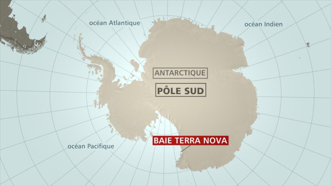 carte Antarctique