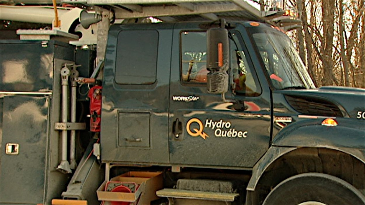 Un camion d'Hydro-Québec.