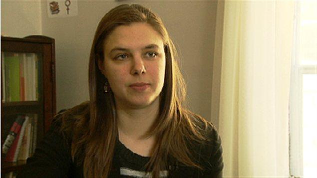 Sara Leblanc, porte-parole du regroupement féministe du N.-B.