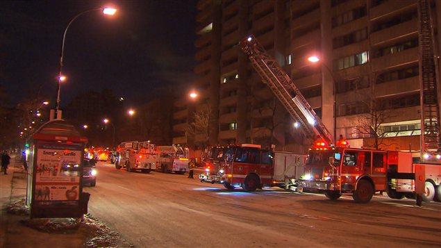 Incendie à Montréal