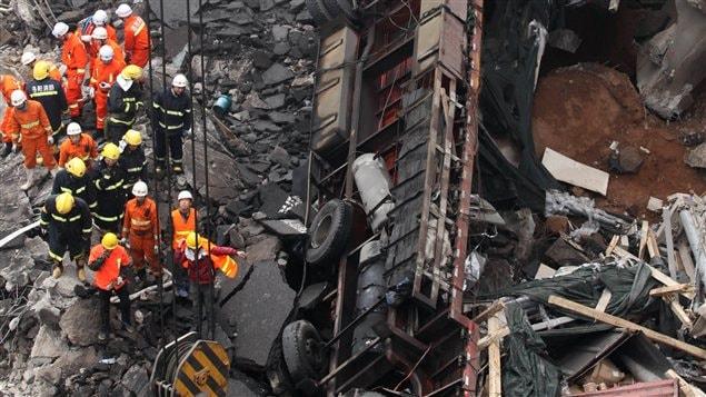 L'accident a eu lieu à Sanmenxia, dans la province de Henan, en Chine