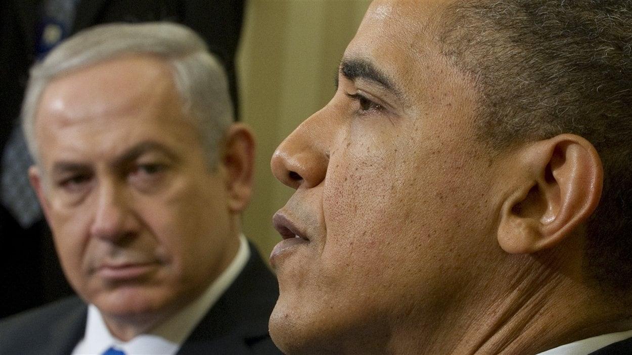 Le président américain Barack Obama recevait le premier ministre israélien Benyamin Nétanyahou à Washington le 5 mars 2012.