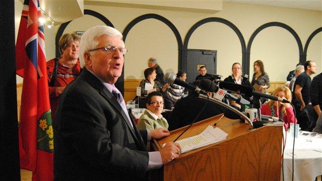 Rick Bartolucci compte demeurer député de Sudbury jusqu'aux prochaines élections. Il est député depuis 1995.