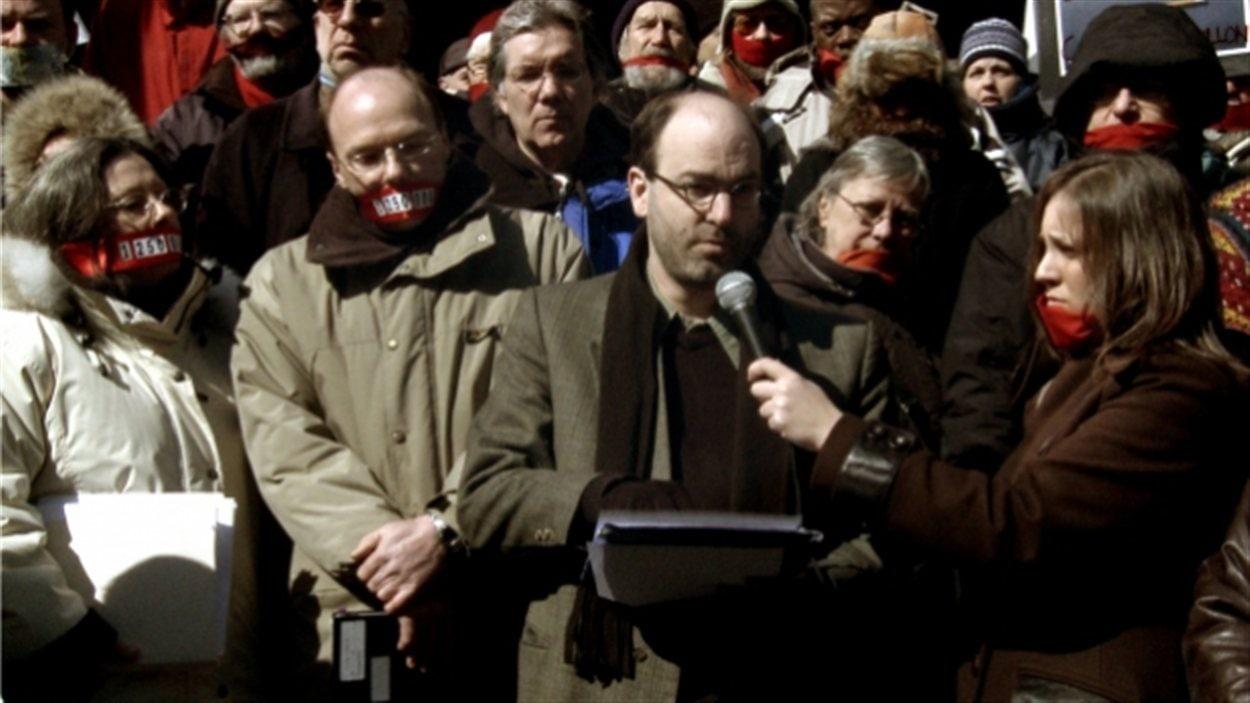 Alain Denault dans le documentaire  Le prix des mots