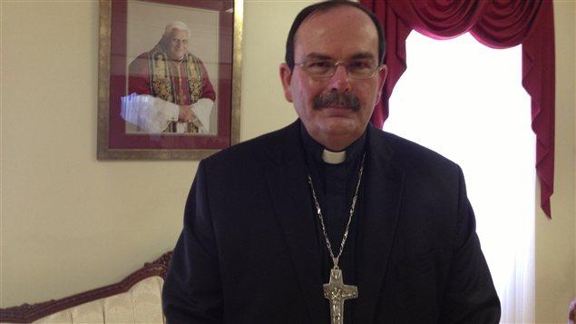 L'archevêque de Saint-Boniface, Monseigneur Albert LeGatt, pris en photo le 11 février 2013 à Winnipeg, au Manitoba.