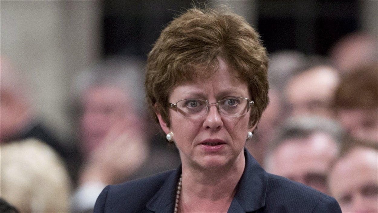 Diane Finley, ministre des Ressources humaines et du Développement des compétences, à la Chambre des communes