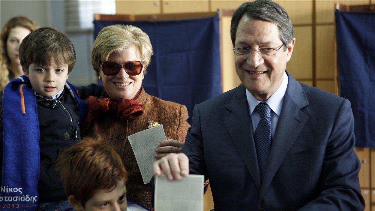 Le candidat conservateur aux élections présidentielles à Chypre, Nicos Anastasiades