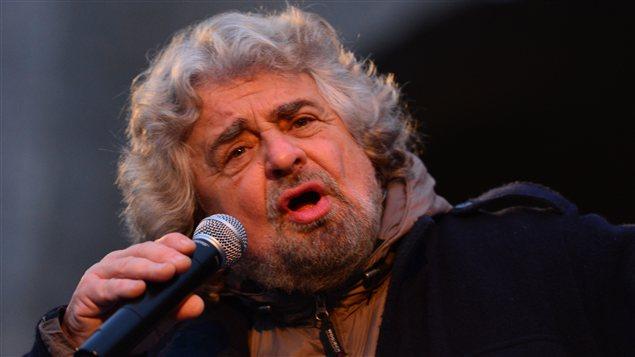 L'ancien acteur comique Beppe Grillo est à la tête du Mouvement cinq étoiles.