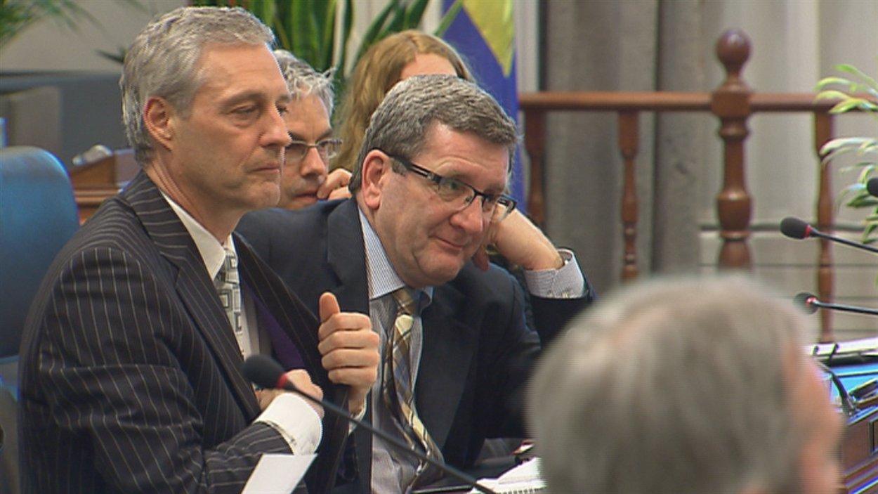 Le maire Régis Labeaume lors du comité plénier sur les caisses de retraite.