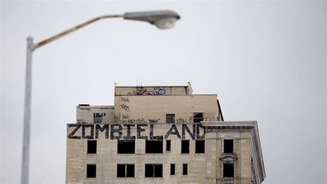 Graffiti sur un édifice abandonné à Détroit (archives)