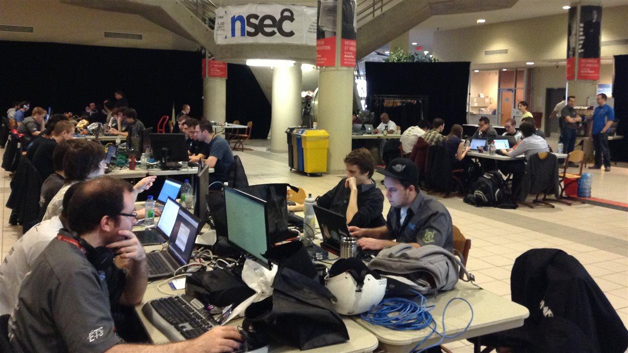 Des participants à l'épreuve NorthSec, à Montréal
