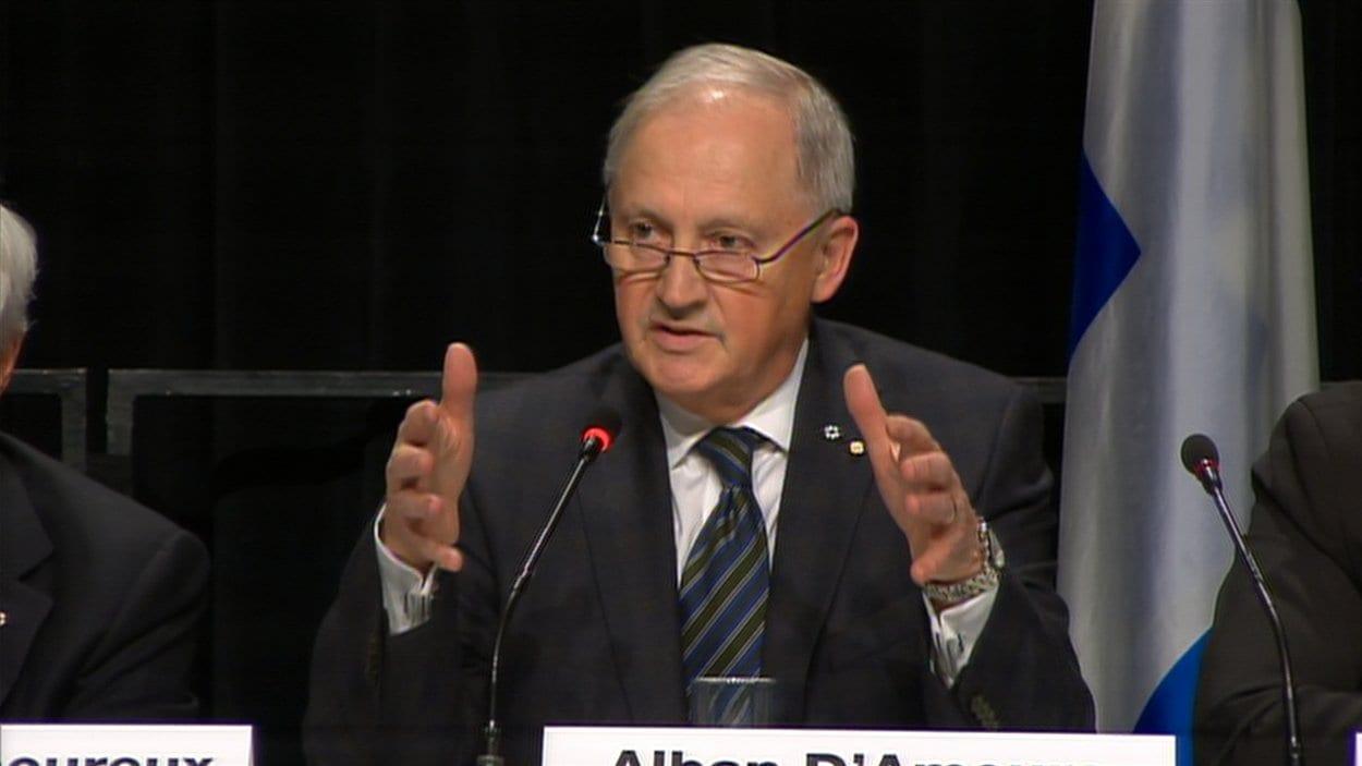 Alban D'amours en conférence de presse, mercredi
